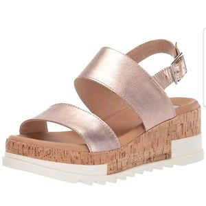 New! Steve Madden Brenda Rose Gold Sandals 10